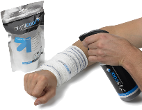 Physicool bandages are a perfect solution for sprained wrist, knee pain, knee injuries, ankle injuries, general swelling, tennis elbow, twisted ankle, Golfer elbow,muscle  strains, sprains and knocks caused by sports injuries.